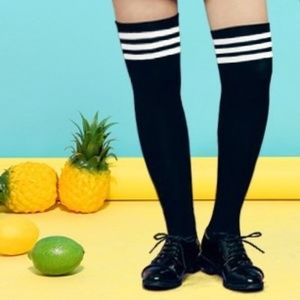 Thigh High Black Knee-Hi Stockings